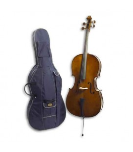 Photo of cello Stentor Student I 3/4 with the bag