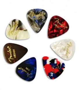 Photo of several Fender picks