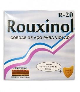 String Set Cordas Rouxinol R20 Viola de Fado 011 042 Ball