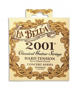 String Set LaBella 2001 for Classical Guitar Hard Tension