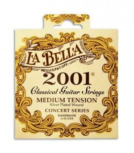 String Set LaBella 2001 for Classical Guitar Medium Tension