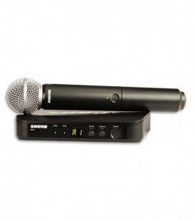 Sistema Microfone Sender Receiver Complete Shure BLX24E SM58 H8E