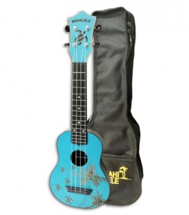 Ukulele Mahilele ML3 BLTP Soprano Blue Summer with Bag