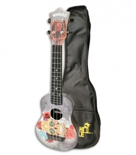 Ukulele Mahilele ML3 004 Soprano Skull with Bag