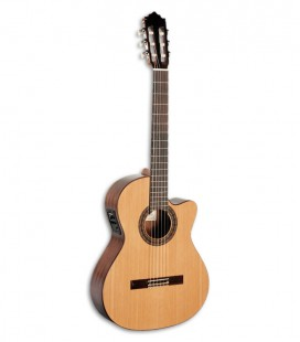 Photo of the Paco Castillo Classical guitar model 222 CE front and three quarters