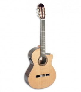 Photo of the Paco Castillo classical guitar 234 TE front and in three quarters