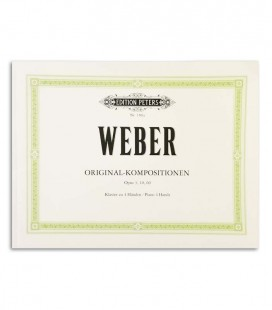 Photo of the cover of the book Weber Original Kompositionen Op 3 10 60 with the reference EP188a