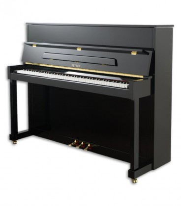 Photo of the Upright Piano Petrof model P122 N2 Higher Series front and in three quarters