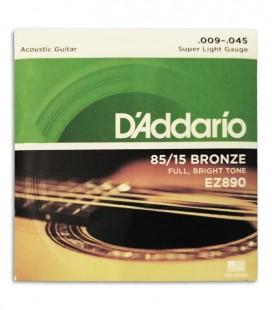 String set  DAddario EZ890 009 Acoustic Guitar Phosphor Bronze