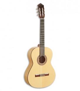 Photo of the flamenco guitar Paco Castillo model 211 F Front and three quarters