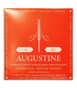 Photo of the cover of the String Set Augustine model Classic Red in normal tension for Classical Guitar