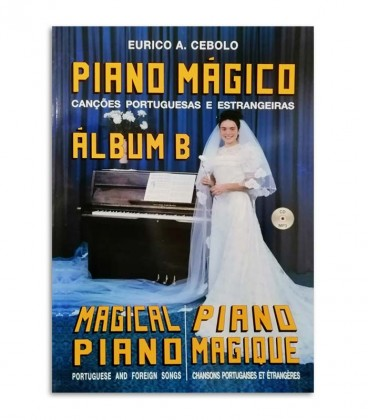 Photo of the cover from Eurico Cebolo Titled ALB B Método Piano Mágico Album B with CD