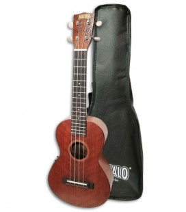 Photo of the Ukulele Concert Mahalo model MJ2VT Java with Bag front and in three quarters