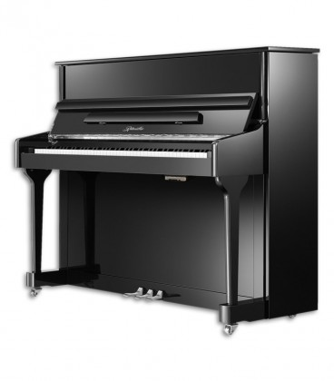 Image of the Ritmuller Upright Piano model AEU118S PE front and three quarters