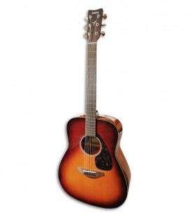 Photo of the Folk Guitar Yamaha model FG800 in Brown Sunburst color front and in three quarters