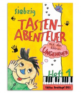 Photo of the cover of the Book 70 Keyboard Adventures with the Little Monster V1 English BRE21785