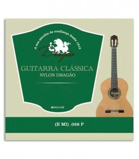 Photo of the package cover of the Dragão String 825 Viola Nylon 028 1st E