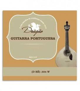 Drag達o Portuguese Guitar String 876 034 3rd D Bass