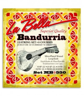 Photo of the package cover of the String Set LaBella MB 550 for Bandurria