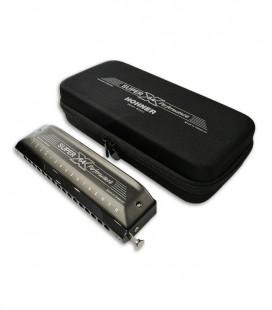 Photo of the Hohner Harmonica Super 64 X New Version and case