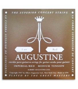 Photo of the String Set Augustine Imperial Red Medium High Tension backcover
