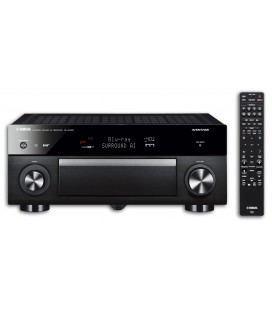 Photo of the Receiver AV Yamaha RX A1080 with the remote control