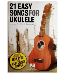 Photo of a sample from the 21 Easy Songs for Ukulele's book