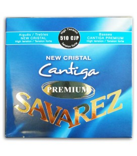 Photo of the Classical Guitar String Set Savarez model 510-CJP New Crystal Cantiga Premium's package cover
