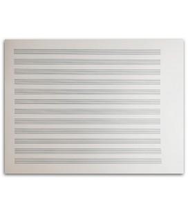Sheet Music Artcarmo Notebook 12P Horizontal