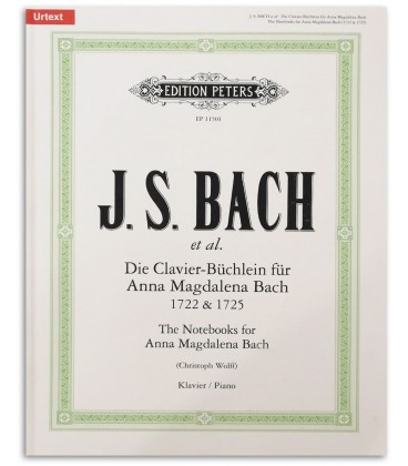 Photo of the Peters Edition Notebook Anna Magdalena Bach EP4546卒s book cover