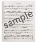 Photo of a sample from the Peters Edition Notebook Anna Magdalena Bach EP4546卒s book