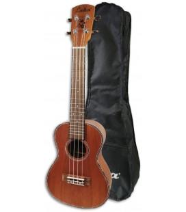 Photo of the Concert Ukulele Laka model VUC40 in Mahogany with Bag