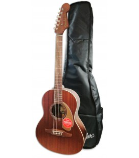 Photo of the Acoustic Guitar Fender model Sonoran Mini All Mahogany with Bag