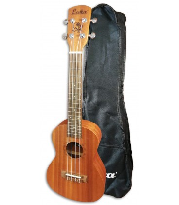 Photo of the Concert Ukulele Laka model VUC5N Sapele with the Bag