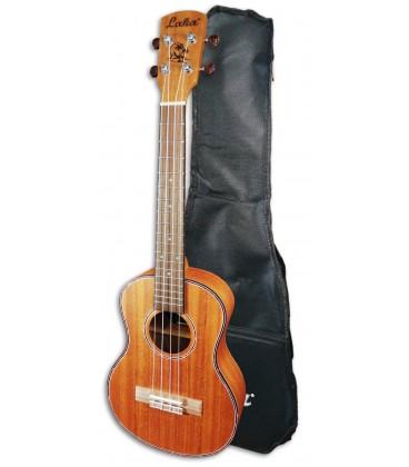 Photo of the Tenor Ukulele Laka model VUT40 with the Bag