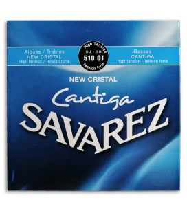 Photo of the String Set Savarez model 500 CJ New Crystal Cantiga's package cover