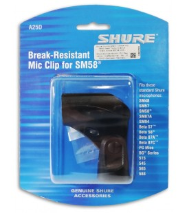 Photo of the Clip Shure model A25D for Microphone inside the package