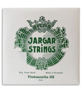 Individual String Jargar 3rd G Cello Green