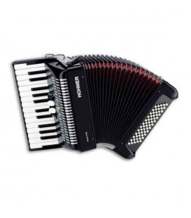 Hohner Accordion Bravo II 60 26 Keys 60 Basses Black A 4096