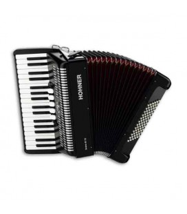 Hohner Accordion Bravo III 72 34 Keys 72 Bajos Preto