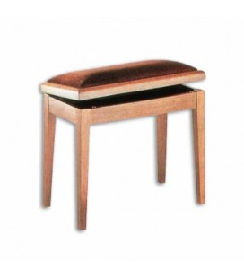 Discaciatti piano bench 205SM Mahogany Rectangular Beige Box