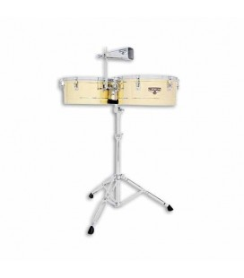 LP Timbales M257B 14 15 Matador Golden with Stand