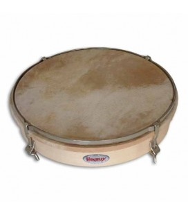 Honsuy Tambourine 43150 25cm 4 Slotted Bolts Natural Skin
