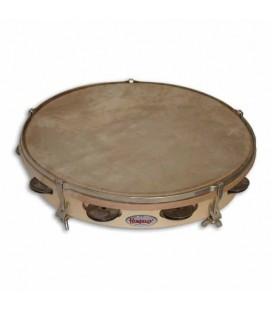 Honsuy Tambourine 41150 25cm 7 Sets Jingles Natural Skinhead