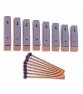 Metallophone Honsuy 49910 8 Individual Bars Diatonic C to C