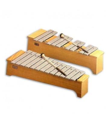 Honsuy Soprano Chromatic Metallophone 49740 C to A