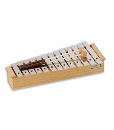 Honsuy Glockenspiel 49030 Alto Diatonic Wooden Box