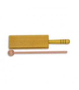Goldon Wood Block 33312 18cm Yellow Wood with Handle