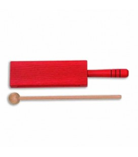 Goldon Wood Block 33314 18cm Red Wood with Handle