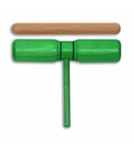 Photo of the Two Tone Goldon model 33126 Green Wood with Mallet